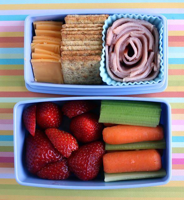 Colorful preschooler bento box