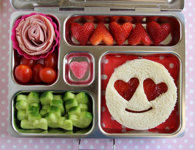 Heart Eyes Emoji Valentine's Lunch