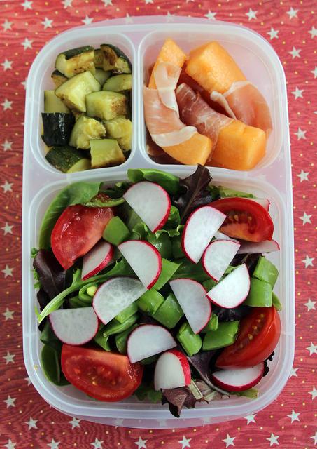 Big Salad Bento for the Airplane