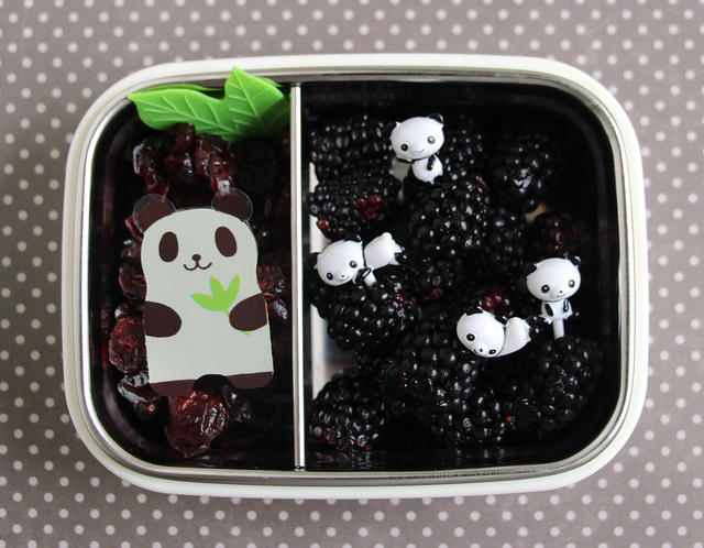 Black snack for kindergarten