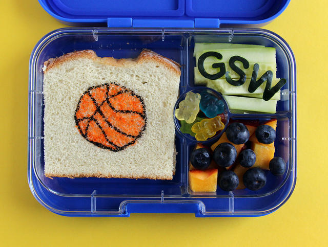Golden State Warriors basketball champions bento box lunch
