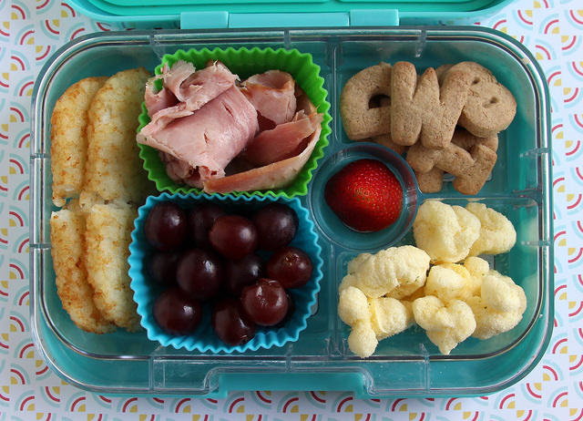 Ham and Hash Browns Yumbox Lunch #2