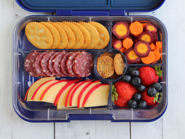 Yumbox Tapas packed like a