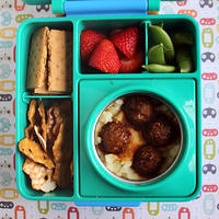 Hot Meatballs and Mashed Potatoes Lunch Box