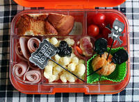 Kid-decorated Halloween Yumbox
