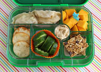 Dumplings in a Green Yumbox
