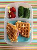 Ham and Cheese Waffle-wich Lunch Box