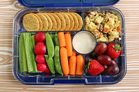 Chicken Salad Dippers in the Yumbox Tapas