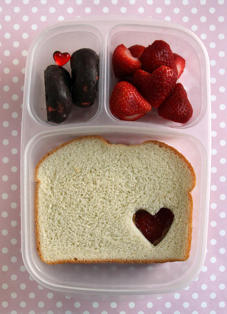 Restrained Valentine's Lunch for a Middle Schooler